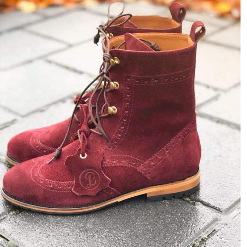 Lovidovi - Oxford Boots Bordo